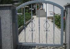 Gartentür mit Musterstäben in Drebach