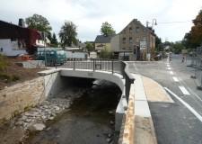 Füllstabgeländer im Radius gebogen (26m), Gasanstaltbrücke Crottendorf