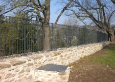 Ziergeländer auf der Stadtmauer in Annaberg-Buchholz