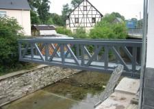 freitragender Kontrollsteg - Pegelmessstation in Zwönitz