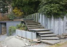Stützwandkonstruktion mit Außentreppenkonstruktion in Chemnitz